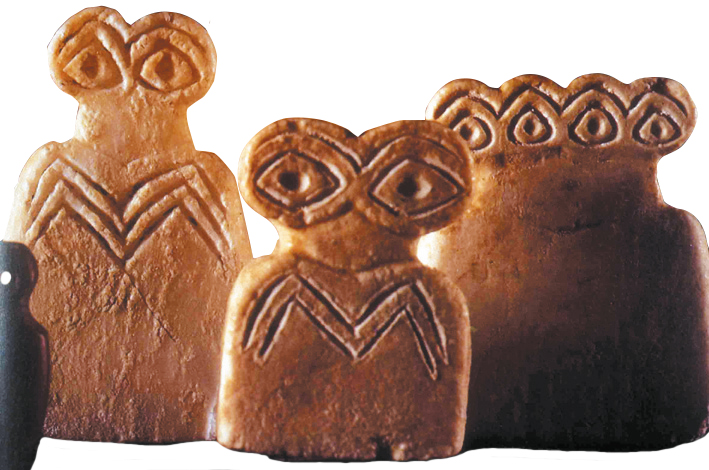 around 3200 to 2800 BC based upon Motives from the Tell Brak Site in Syria 2 Eye Idol